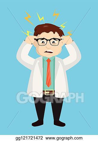 Dermatologist Clipart : dermatologist, clipart, Illustration, Dermatologist, Doctor, Worried, Face., Vector, Clipart, Gg121721472, GoGraph