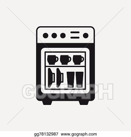 vector clipart dishwasher icon
