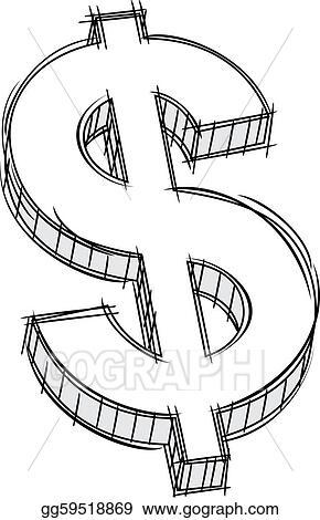 Money Drawing At Getdrawings - Chalk Drawn Dollar Sign Png