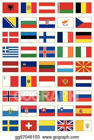 vector illustration flag set