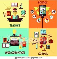 Vector Stock - Flat designs for web education, school ...