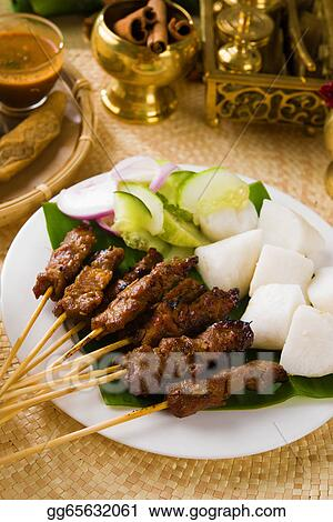 Stock Image Food Indonesian Malaysia Dish Indonesia Sate Meat Isolate Stock Photo Gg65632061 Gograph