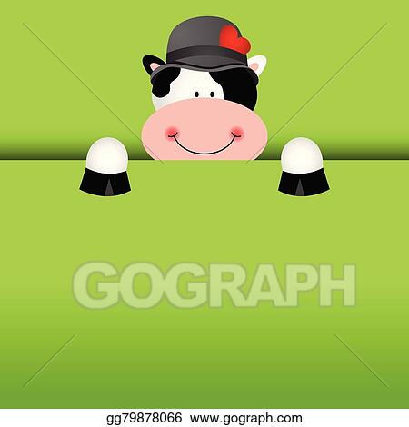 vector illustration funny cow