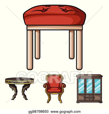 chair design icons front porch chairs vector art furniture interior and home interiorset collection in cartoon style symbol stock illustration web