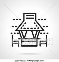 Vector Stock Garden gazebo with chairs black line vector icon Clipart Illustration gg85082992 GoGraph