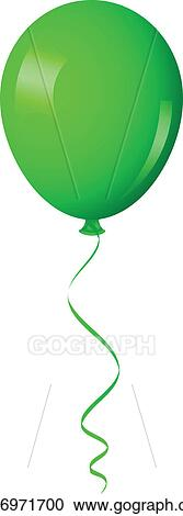 vector art - green balloon