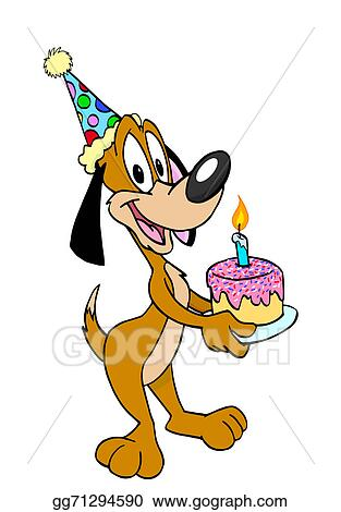 Happy Birthday Dog Clipart : happy, birthday, clipart, Stock, Illustration, Happy, Birthday, Clipart, Illustrations, Gg71294590, GoGraph