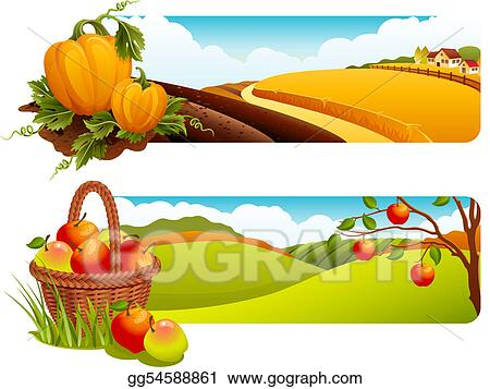 clipart - harvest. stock illustration