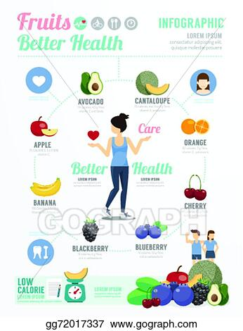 Clipart Health And Wellness : clipart, health, wellness, Vector, Stock, Health, Wellness, Template, Design, Fruit, Healthy, Infographi., Clipart, Illustration, Gg72017337, GoGraph