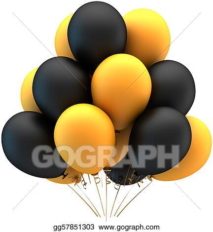 stock illustrations - helium balloons