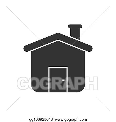 House Building Icon In Flat Style Home Apartment Vector Ilration On White Isolated Background Dwelling Business Concept