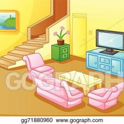 Living Room Pictures Clipart Bright Colored Rugs Vector Stock Interior Of A House