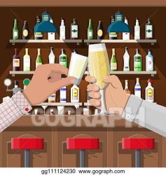 Vector Clipart Interior of pub cafe or bar Vector Illustration gg111124230 GoGraph