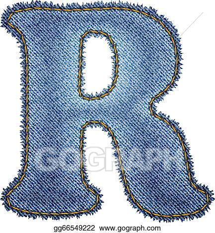 vector clipart jeans alphabet