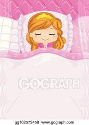 bed princess sleep kid cute sleeping illustration clipart clip background vector costume featuring colorful making fancy drawing boys eps gograph