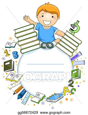 Kid Drawing Clipart : drawing, clipart, Drawing, Student, Frame., Clipart, Gg56672429, GoGraph