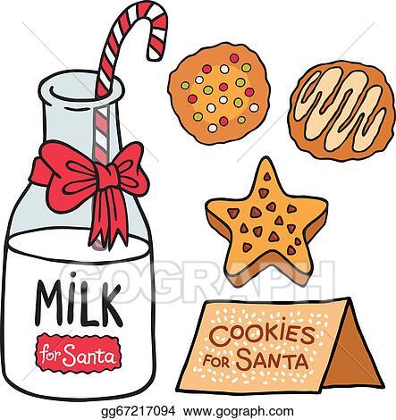 vector clipart - milk cookies