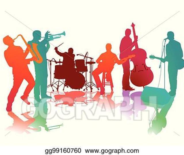 Eps Illustration Musik Band Eps Vector Clipart Gg