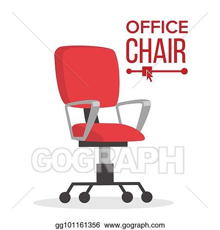 office chair illustration algoma c frame hanging stand vector stock business manager empty seat for employee ergonomic armchair executive director furniture icon