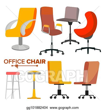 office chair illustration next home covers eps chairs set vector business hiring and recruiting empty seat for employee ergonomic armchair executive director