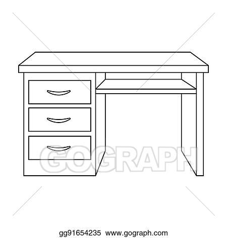 stock illustrations - office desk