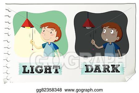 vector illustration opposite adjectives