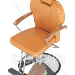 Orange Chair Salon Black Wood Spindle Chairs Stock Illustration Hairdressing Clipart