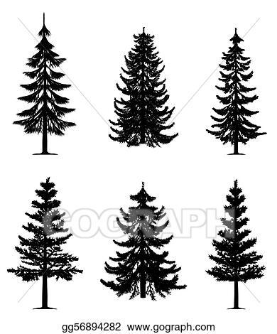 vector art pine trees