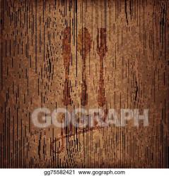 Vector Illustration Restaurant menu design on wood background Stock Clip Art gg75582421 GoGraph