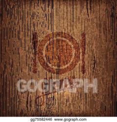 Vector Illustration Restaurant menu design on wood background Stock Clip Art gg75582446 GoGraph