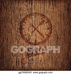Vector Illustration Restaurant menu design with lunch time icon on wood background EPS Clipart gg75582443 GoGraph