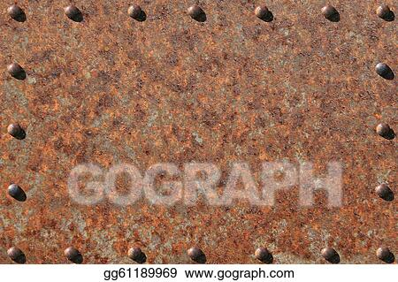 stock photograph rusted and