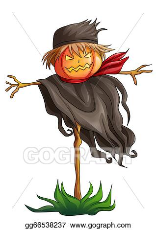 drawing - scarecrow. clipart
