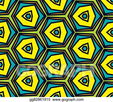 Vector Clipart Seamless Vintage Abstract Pattern With Triangles