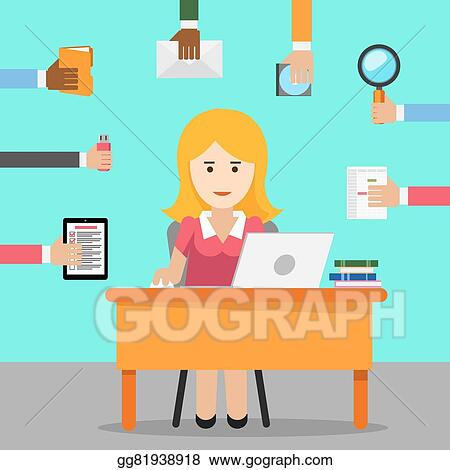 vector illustration - secretary