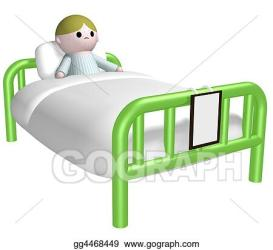 Stock Illustration Sick child in bed Clipart gg4468449 GoGraph