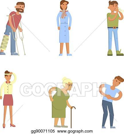 eps illustration sick people