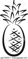 Vector Illustration Sketch of pineapple EPS Clipart gg71340317 GoGraph