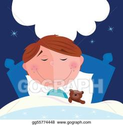 boy sleeping bed clipart cartoon vector cute dream dreaming clip illustration bubble inside write drawings eps speech graphics gograph drawing