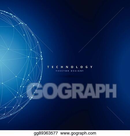vector illustration sphere wireframe