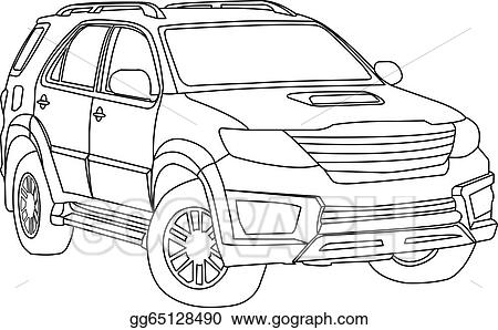 Vector Outline Mitsubishi Lancer Free Download