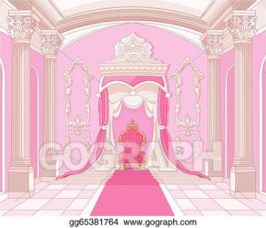 castle room throne magic clip clipart vector illustration gograph interior