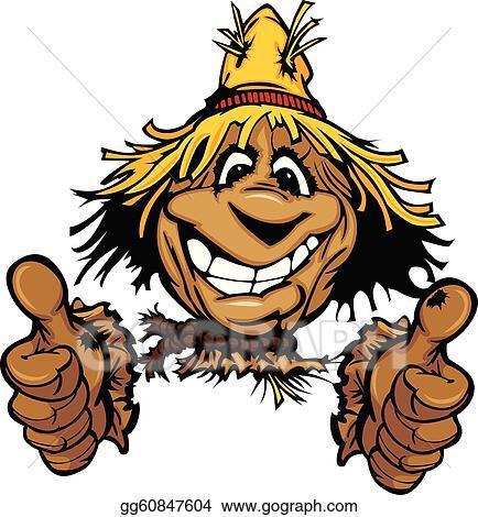 clip art vector - thumbs scarecrow