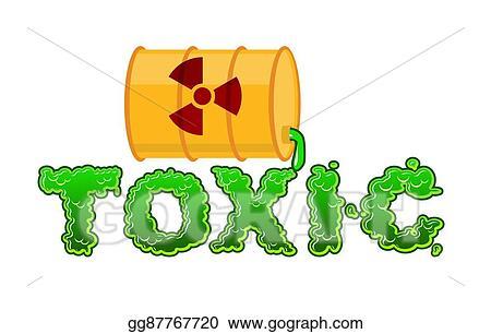 vector stock toxic lettring