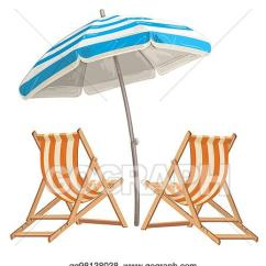 Beach Chair And Umbrella Clipart Ergonomic Desk Vector Illustration Two With Eps