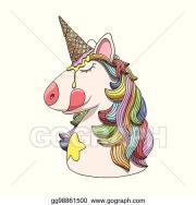 vector stock - unicorn character
