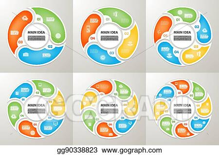 3 arrow circle diagram wiring for multiple gfci outlets vector illustration arrows sign infographic set 4 5 6 7 8 options parts steps cycle symbol graph puzzle presentation round chart