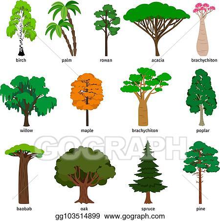 vector stock vector trees