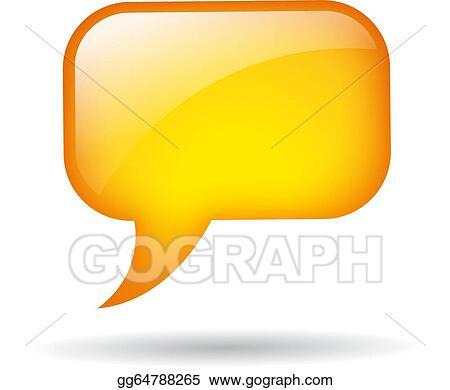 Clip Art Vector Yellow Sch Balloon Isolated On White Stock Eps Gg64788265