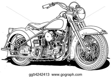 Harley-davidson Clip Art Illustration Related Keywords
